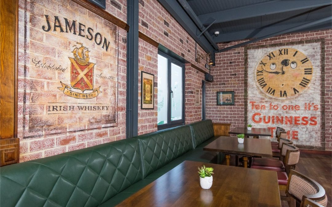 Staff Canteen design and build for a large UK Company by the Irish Pub Company and McNally Design